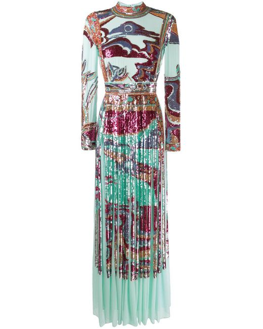 Emilio Pucci スパンコール イブニングドレス Blue