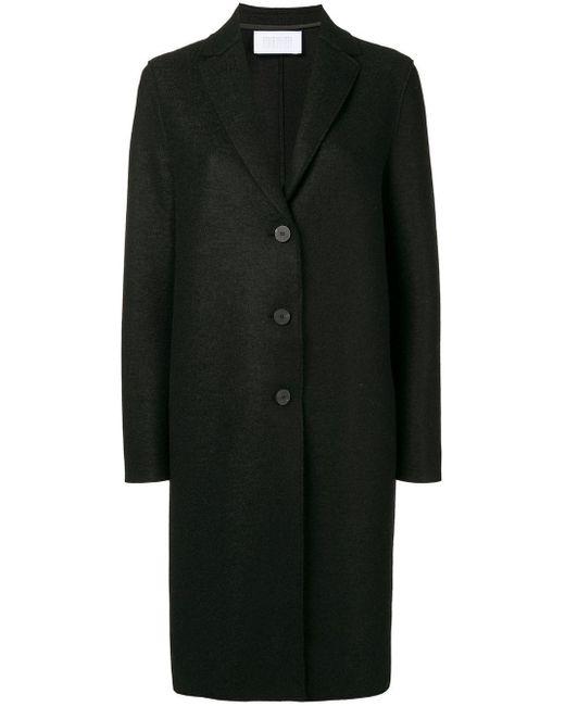Harris Wharf London ボックスシルエット コート Black