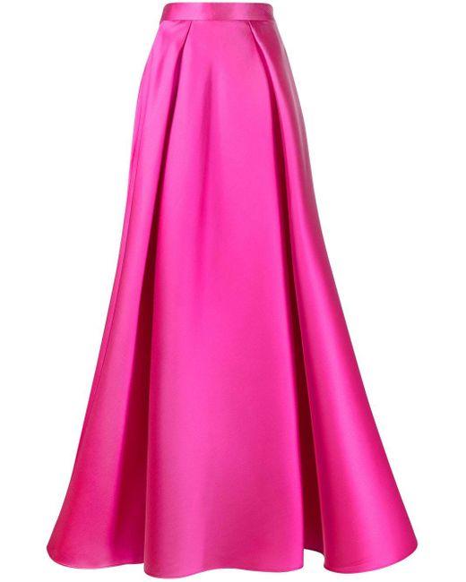 Alberta Ferretti Pink A-line Maxi Skirt