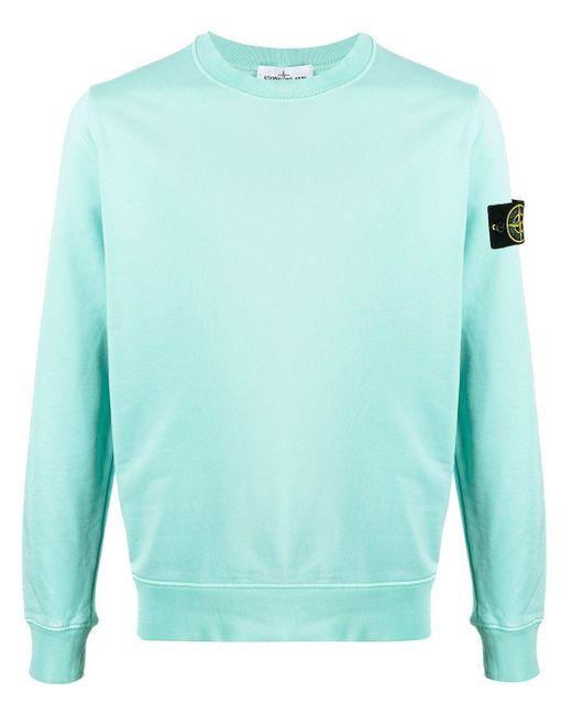 Stone Island Multicolor Logo-patch Crew-neck Sweatshirt for men