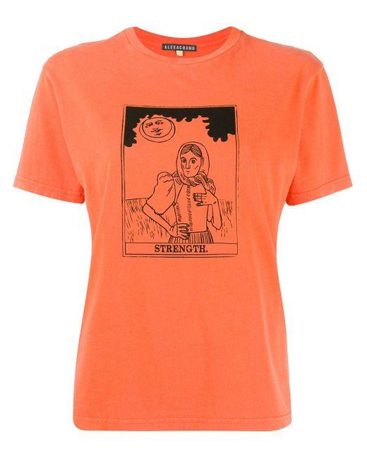 AlexaChung Strength Tシャツ Orange