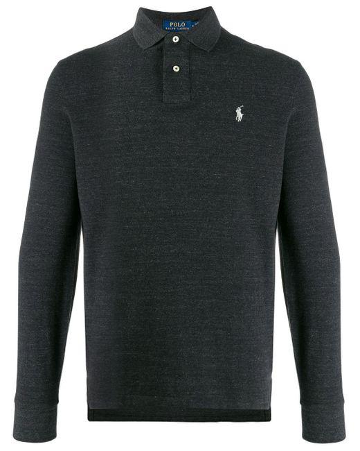 メンズ Polo Ralph Lauren ロングスリーブポロシャツ Black