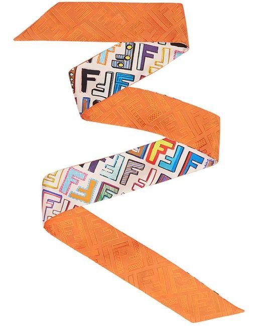 Fendi ファン ラッピー スカーフ Multicolor