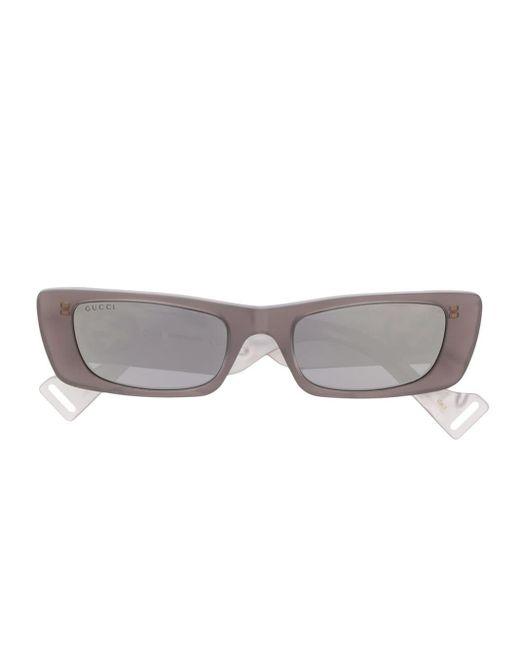 Gucci Gray GG0516S 002 Rectangular-frame Sunglasses