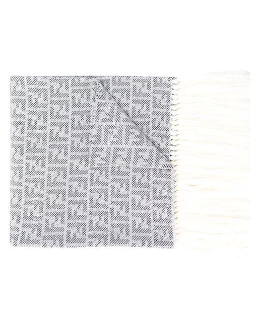 メンズ Fendi モノグラム スカーフ Gray