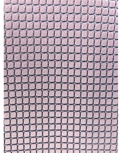 メンズ Ermenegildo Zegna パターン シルクネクタイ Pink