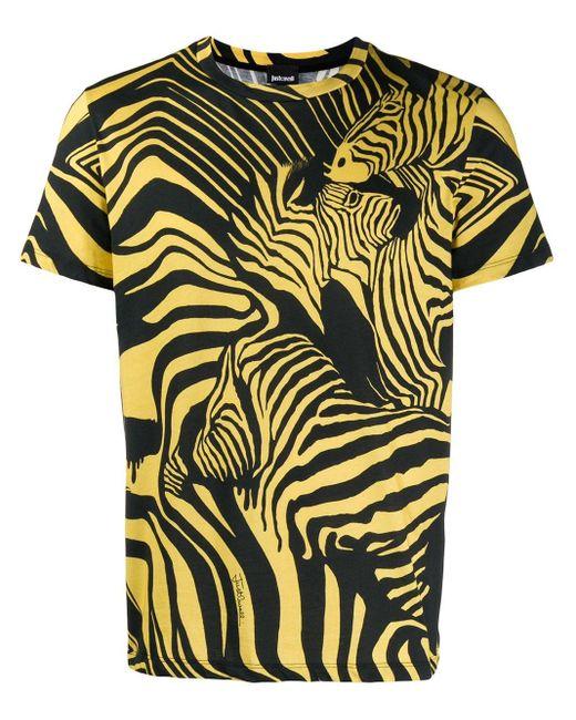 メンズ Just Cavalli ゼブラ Tシャツ Multicolor