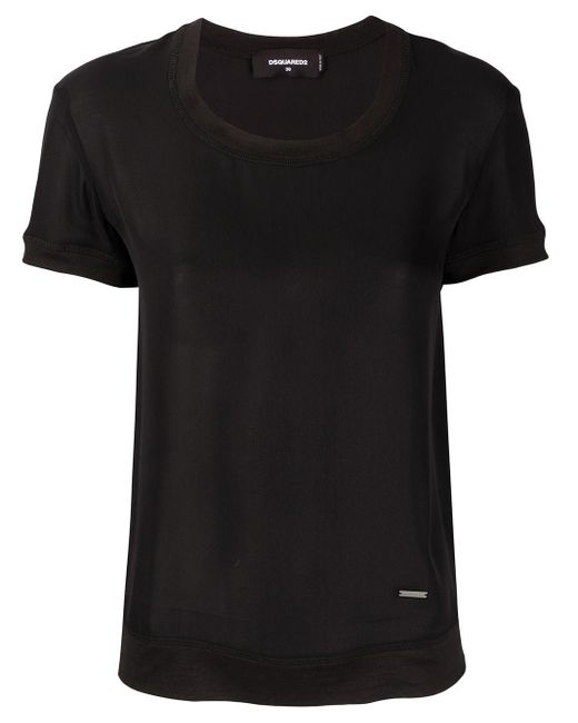 Футболка Узкого Кроя DSquared², цвет: Black