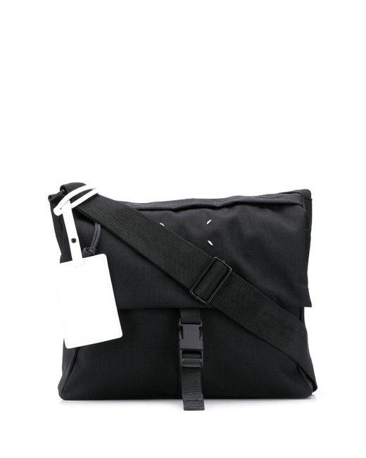 Сумка-мессенджер С Декоративной Строчкой Maison Margiela для него, цвет: Black