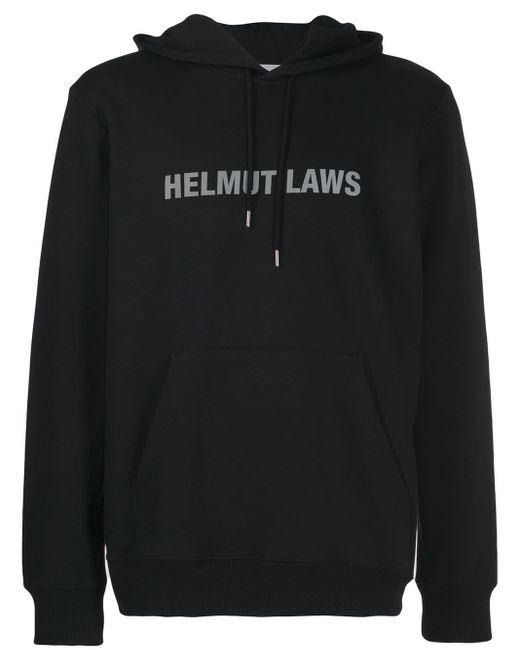 メンズ Helmut Lang ロゴ パーカー Black