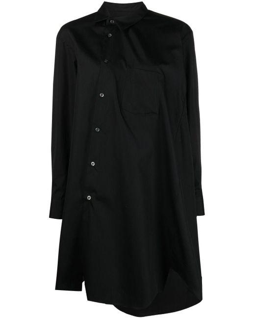Camicia asimmetrica oversize di Comme des Garçons in Black