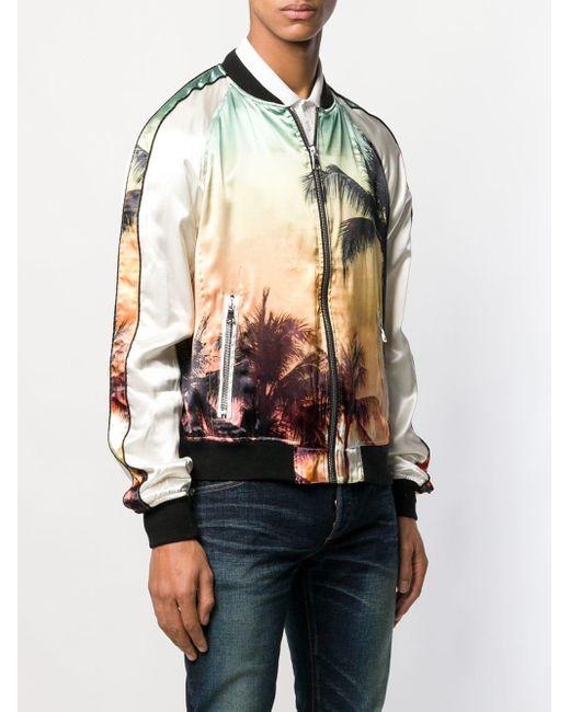 メンズ Balmain パームツリー ボンバージャケット Multicolor