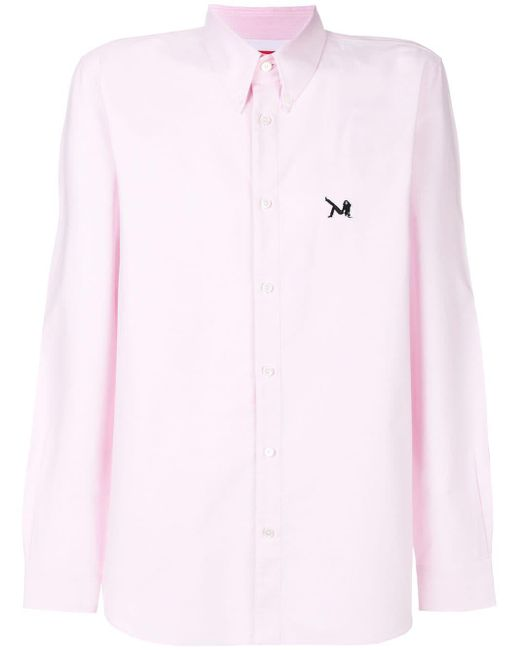 Camisa con detalle de parche CALVIN KLEIN 205W39NYC de hombre de color Pink