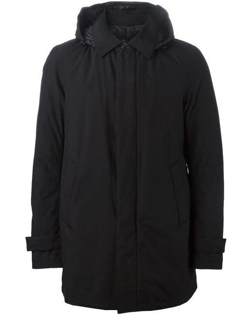 Herno - Black Hooded Padded Jacket for Men - Lyst