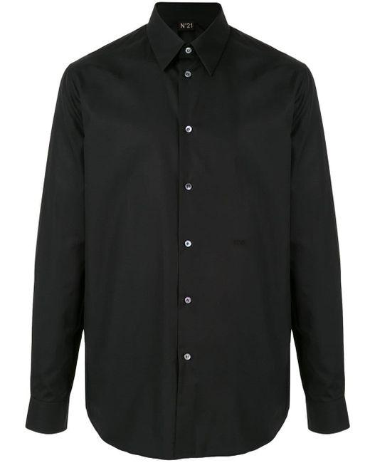 メンズ N°21 ポインテッドカラー シャツ Black