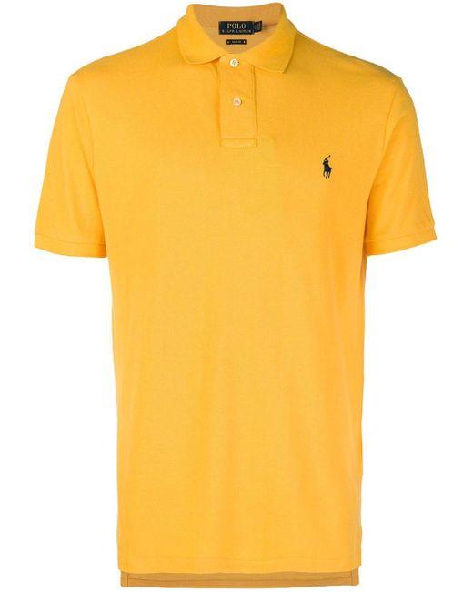 メンズ Polo Ralph Lauren クラシック ポロシャツ Yellow