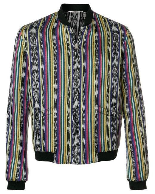 メンズ Saint Laurent ジャガード ボンバージャケット Multicolor