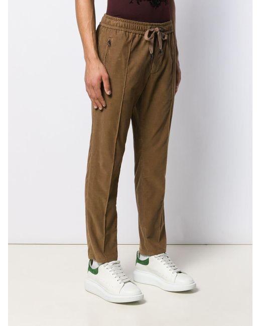 Pantalones de chándal de pana Dolce & Gabbana de hombre de color Brown