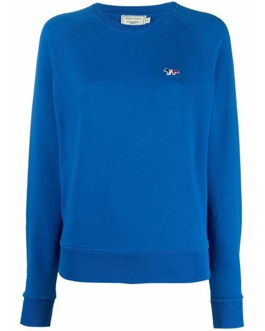 Толстовка С Вышитым Логотипом Maison Kitsuné, цвет: Blue