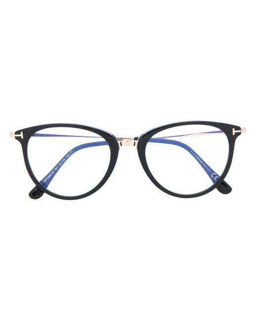 Tom Ford ラウンド眼鏡フレーム Metallic