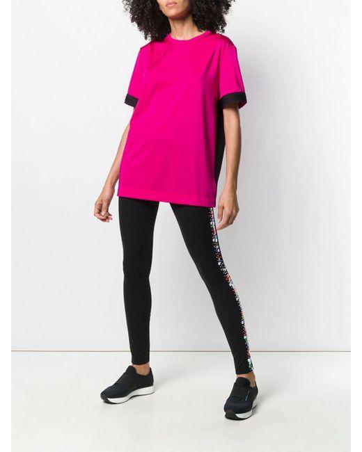 No Ka 'oi バイカラー スポーツトップ Pink