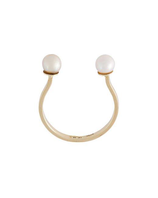 Delfina Delettrez | Metallic 'double Pearls' Ring | Lyst