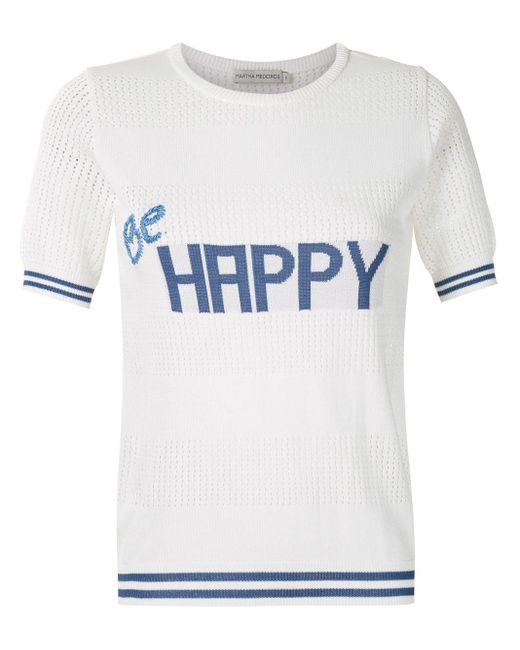 Martha Medeiros Be Happy Tシャツ White