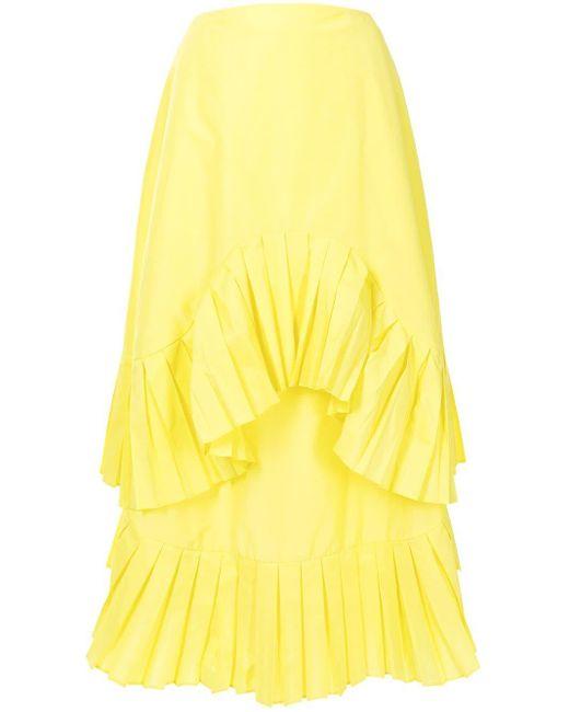 Enfold ラッフルトリム スカート Yellow