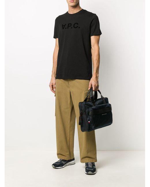 メンズ A.P.C. ロゴ Tシャツ Black