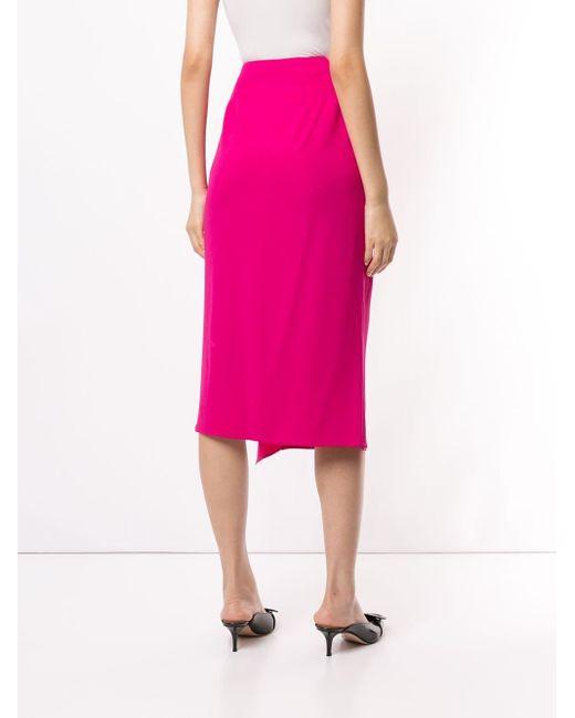 Rochas ラッフル ミディスカート Pink