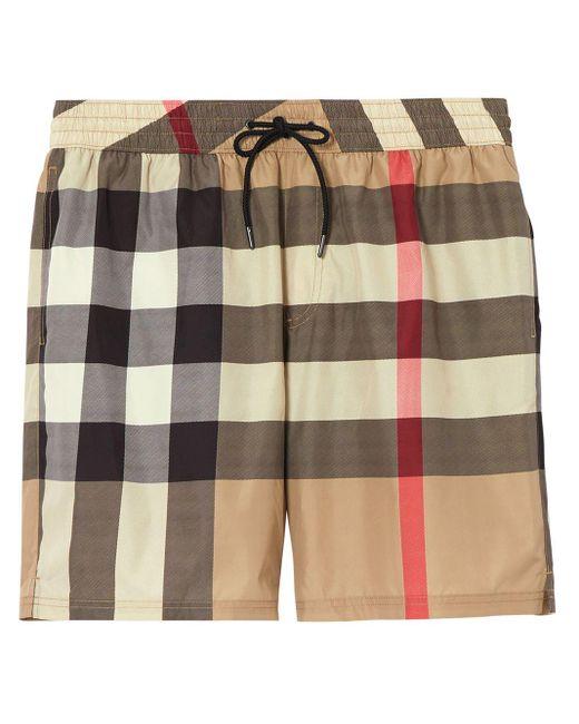Клетчатые Плавки-шорты С Кулиской Burberry для него, цвет: Multicolor