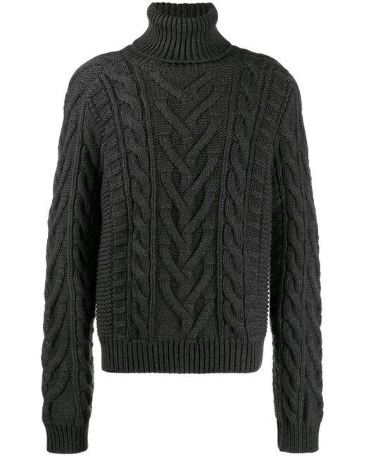 メンズ Dolce & Gabbana ドット セーター Gray