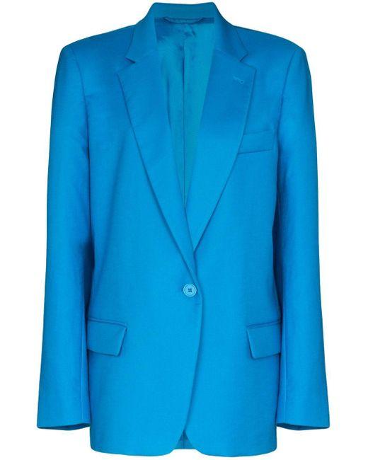 The Attico オーバーサイズ シングルジャケット Blue