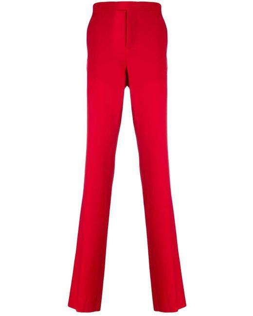 メンズ Raf Simons テーラードパンツ Red
