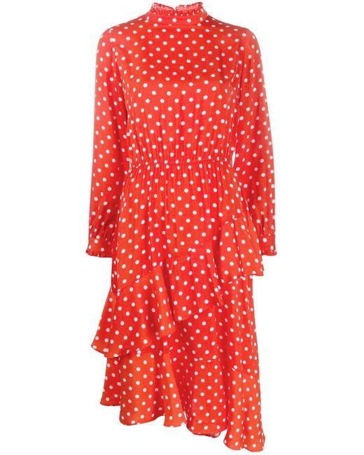 Essentiel Antwerp ポルカドット ドレス Orange