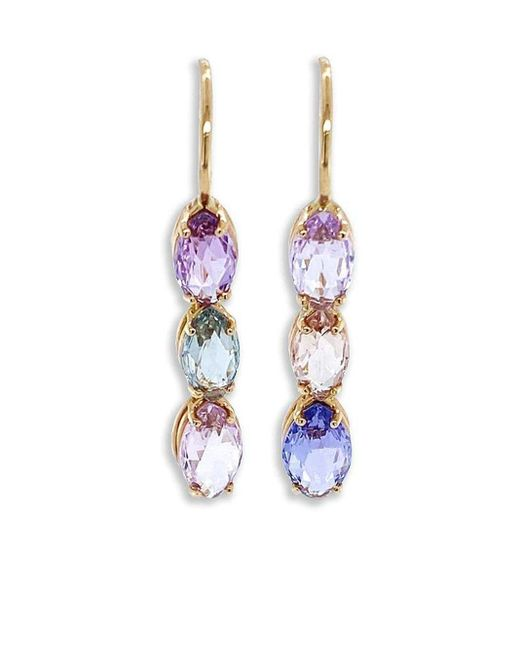 Bayco Pink 18kt Rose Gold Sapphire Drop Earrings