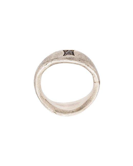 Henson - Metallic Diamond Signet Ring - Lyst