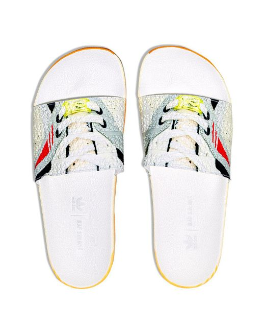 メンズ Adidas By Raf Simons Adidas X Raf Simons Adilette サンダル White