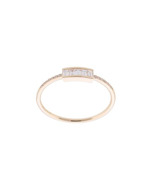 EF Collection - Metallic Anello Baguette Con Diamanti - Lyst