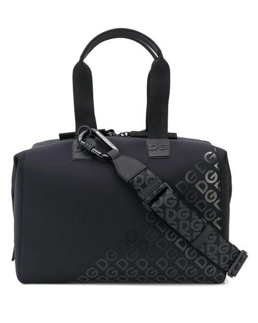 Dolce & Gabbana Black Millenials Logo Holdall for men