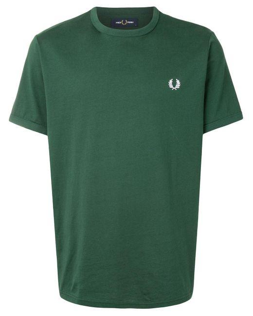 メンズ Fred Perry ロゴ Tシャツ Green