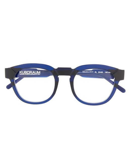 Kuboraum ラウンド眼鏡フレーム Blue