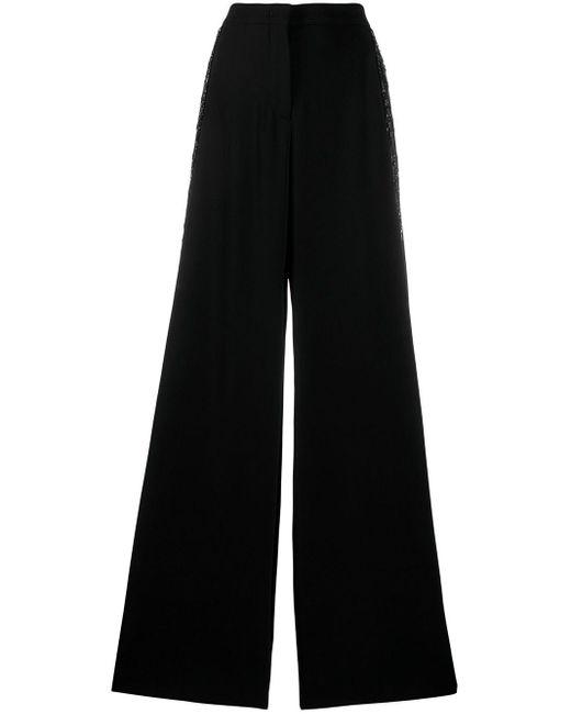 Emilio Pucci スパンコール ワイドパンツ Black