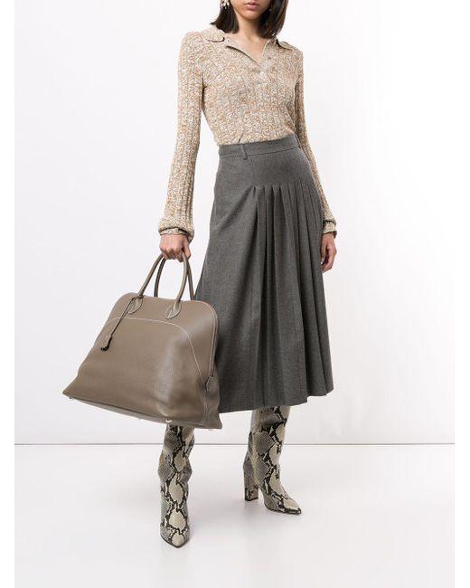 Дорожная Сумка Bolide Relax 45 2015-го Года Pre-owned Hermès, цвет: Gray