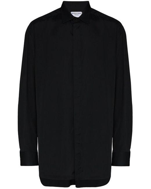 メンズ Bottega Veneta ボタン シャツ Black
