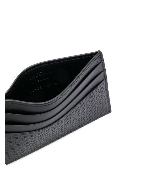 メンズ Ferragamo ガンチーニ カードケース Black