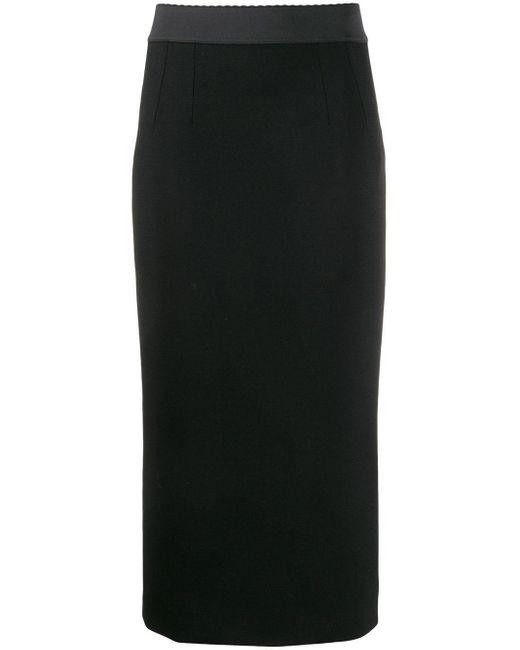 Dolce & Gabbana ストレッチ ペンシルスカート Black