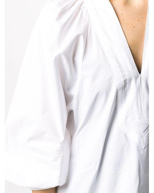 Туника С V-образным Вырезом Tory Burch, цвет: White