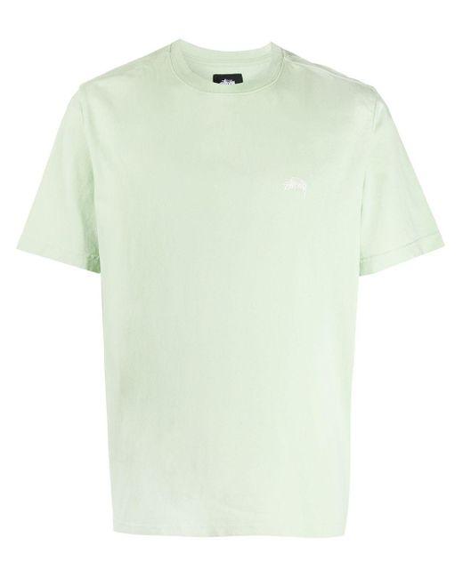 メンズ Stussy ロゴ Tシャツ Green
