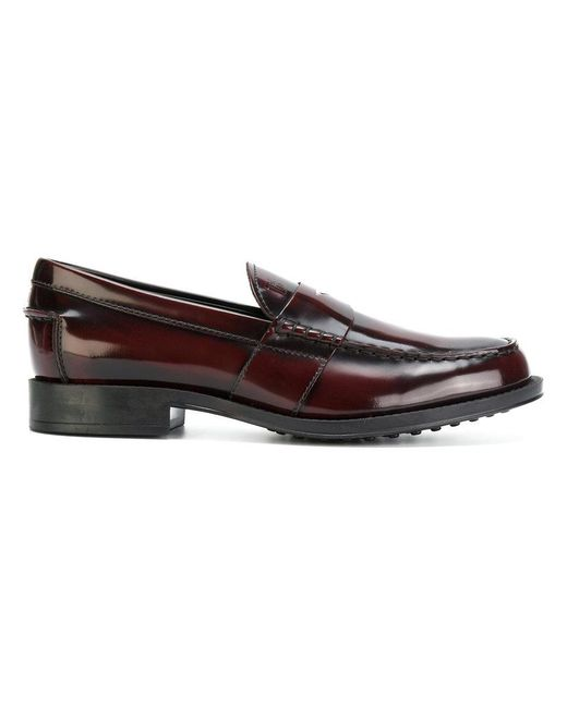 Tod's | Red Classic Loafers for Men | Lyst